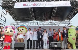 台湾のキャラクターが開幕式に花を添えた