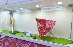 美濃李家傘工場的客家花布傘也在會場中展出
