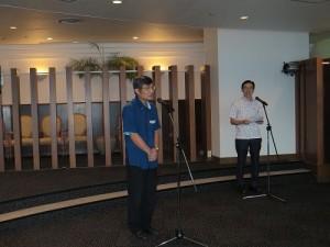 駐那霸辦事處蘇啟誠主持歡迎晚宴,歡迎桃園和宜蘭兩地首長到訪沖繩