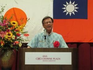 沖繩縣知事翁長雄志應邀出席國慶酒會