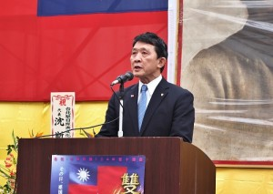 橫濱華僑總會會長羅鴻健重申橫濱僑民支持中華民國政府的決心