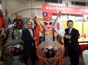 僑委會所贈三太子京都首次登場、成為矚目焦點