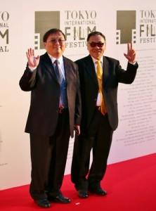 製作人唐在揚(左)導演王童(右)