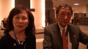 謝張芳珠期許學習台灣傑人會精神〈左起:現任日本總會長謝張芳珠 2016日本總會長平井清 〉