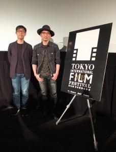 Q&Aを行った「百日草の」林書宇監督(左)とストーン(右)