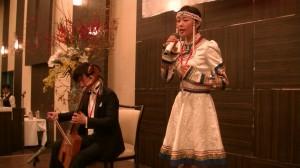 傑人會晚宴上馬頭琴演奏及蒙古民謠演唱