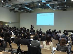 パソナ台湾就職セミナーには就活中の在日台湾人と台湾での就職を目指す日本人ら約100人が参加した