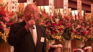 吳正男名譽顧問進行乾杯儀式