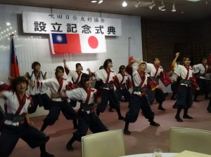 多次訪台表演的關西大學學生社團漢舞 現場熱舞為大會造勢