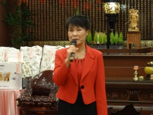 駐大阪辦事處處長夫人林玲玉代表處長出席 感謝大阪佛光山成為慰藉僑胞心靈的所在