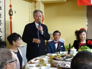 駐大阪辦事處處長蔡明耀感謝鄉親們過去兩年多來的照顧