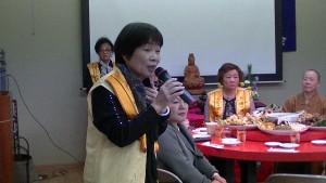國際佛光會關東協會千葉分會會長則安美希分享佛法體驗