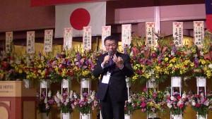 台北市長柯文哲說通常致詞只有三個字:開動了