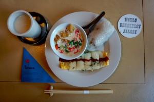 提供されている台湾の朝ごはんワンプレート