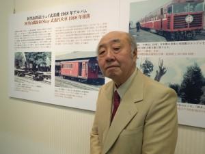 原信太郎さんと台湾の鉄道に乗り合ったという鉄道著作家の松本謙一さん