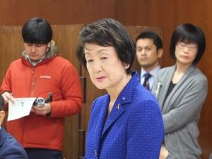 今年、訪台したい意向を示した横浜市の林文子市長