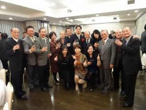 大阪中華總會理監事、大阪中華學校理事會、關西台商會熱烈歡迎張仁久履新