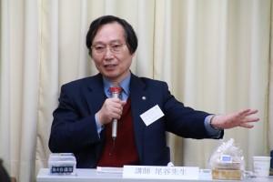 尾谷會計事務所代表尾谷恒行向在日台灣不動產協會成員解說海外投資家的稅法
