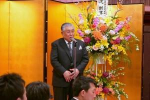 神奈川日華親善協會副會長藤代耕一致詞