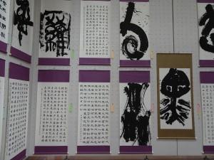展示會場的海外部門 有多幅台灣學生作品