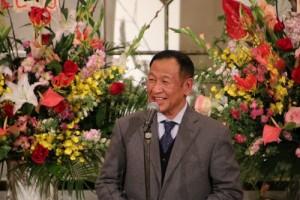 亞東親善協會會長大江康弘致詞時還用中文講「中華民國台灣萬歲」