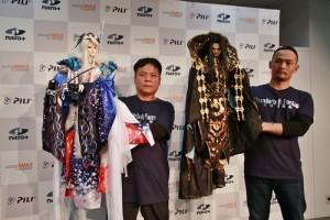布袋戲偶精細的設計讓不少初次見到布袋戲的日本媒體感到驚艷