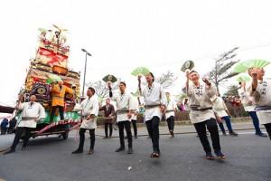 成田祇園祭的仲之町山車首次跨海演出,引人注目(照片提供:桃園市政府)