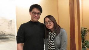 左起:林于靖、王懷寧夫妻對純白婚禮滿心期待