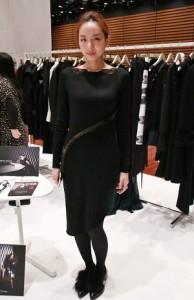 服裝品牌Athena Chuang設計師莊承華示範最新一季的服裝