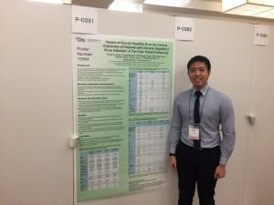 台裔星籍新科醫生陳星宇受邀參加亞太肝臟研究學會發表和台大教授劉俊人一起研究的報告