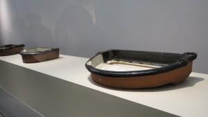 從江戶時代的窯裡出土的紡織用陶器