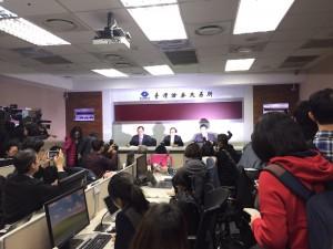 台湾での記者会見の様子