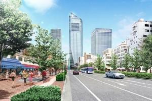 周遭的新虎大道經過重新整備後,將有全新的面貌(資料提供:森大廈株式會社)
