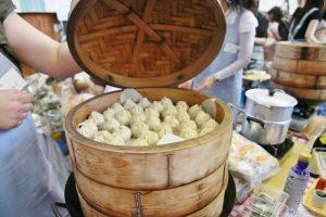 台灣的小籠包也是園遊會上熱門美食之一