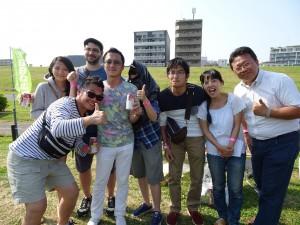 活動負責人 大阪中華總會青年部橋爪敦哉 (左4)