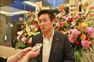 眾議員秋元司受訪談到沖之鳥礁爭議