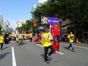 隊名『神戶─台灣 絆』 包含神戶僑胞對台日永續友好的期盼