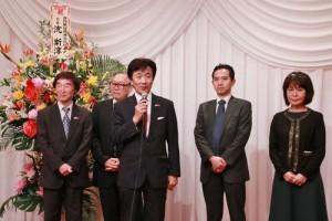日本華商總會副理事長朱恭亮特別到場宣傳7月30日和31日兩日在代代木公園舉辦的台灣Festa