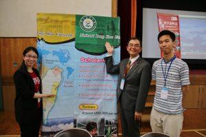 東華大學國際長褚志鵬(右2)盼更多日本留學生到校留學