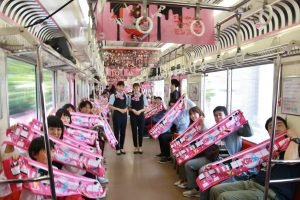 6月4日的彩繪列車首發典禮上,有超過300位粉絲一起搭乘列車出發