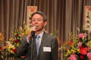 日本交流協會前駐台代表池田維應邀到場致詞恭賀謝長廷出任駐日代表