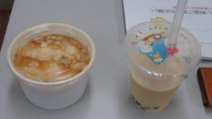 協會準備台灣珍奶 豆花 請日本老師學員品嘗