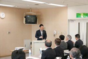 川崎市長福田紀彥致詞歡迎台日企業一起合作