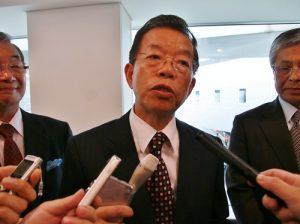 駐日代表謝長廷接受台日媒體聯訪,表達將在任內再強化台日友好關係