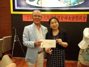 名家華中華餐廳社長陳天隆提供餐劵作為賓果獎品