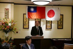 駐橫濱辦事處處長粘信士在會中重申台灣對南海主權的立場