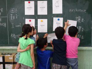 小朋友非常積極地從遊戲中學英文
