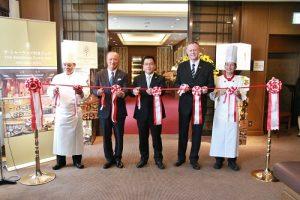 台北西華飯店和東京帝國飯店合作互推料理宴,7月4日首先在帝國飯店舉行開幕剪綵典禮,為後續的合作活動揭開序幕