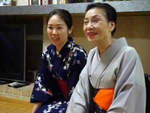 浜田宗富老師(右)希望將來能有更多機會向台灣民眾推廣日本茶道文化