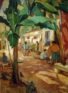 寥継春「芭蕉之庭」1928年第9回帝展入選作